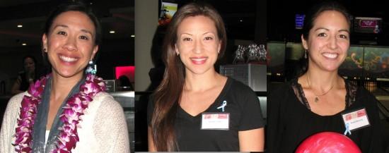 From left: Kimberly Hayashi, 2002 Nisei Week First Princess; Monika Teuffel, 2007 Nisei Week Queen; Nicole Cherry-Yu, 2003 Nisei Week Queen.