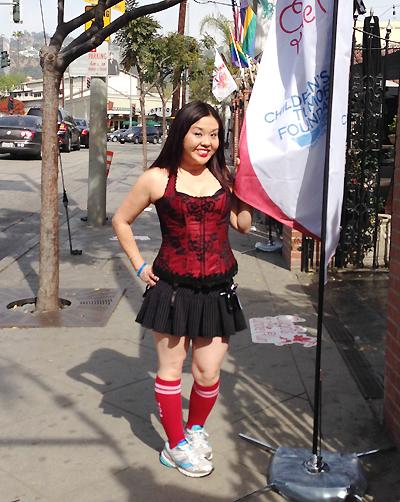 昨年のCupid's Undie Runに参加した芥川さん