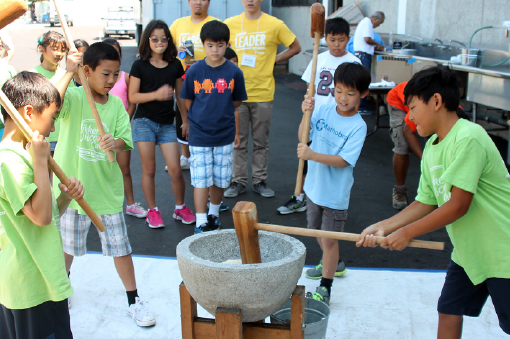 Kids learn Japanese American traditions and get a workout at the Kizuna Family Mochitsuki Workshops.