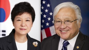 South Korean President Park Geun-hye and Rep. Mike Honda