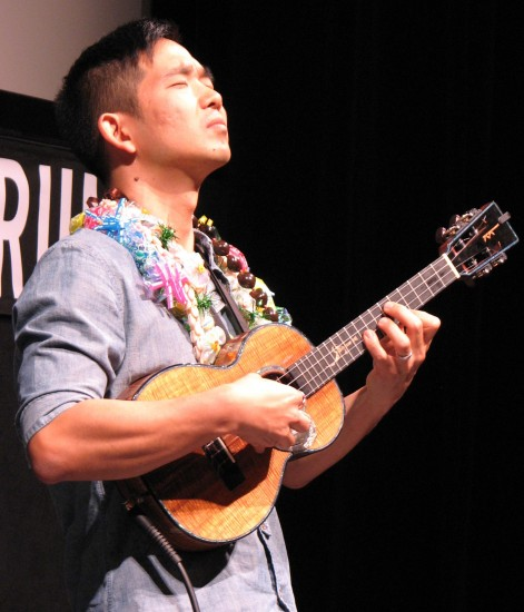 "Jake Shimabukuro's performance included his cover of ""While My Guitar Gently Weeps."""