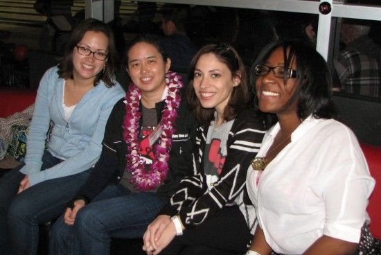 Members of the Japanese American National Museum team (from left): Mia Monnier, Vicky Murakami-Tsuda, Sylvia Lopez, Vedette Philip. Not pictured: Evan Kodani.