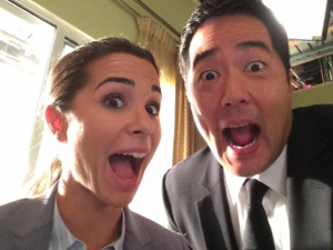 "Josie Loren and Tim Kang excited to work with each other on ""The Mentalist."""
