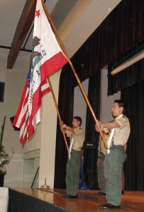 Boy Scout Troop 764 conducted the flag ceremony.