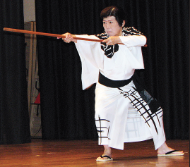 Classical Japanese dance by Fujima Ransei (Michiko Yamamoto).