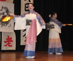 Kelsey Fung and Hope Hamamoto of Fujima Seiyumi Kai.