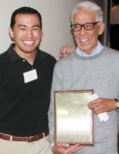 Steven Sharp of Venice-Culver JACL and Venice Pioneer Project President Eric Inouye, this year's recipient of the George Inagaki Community Service Award.