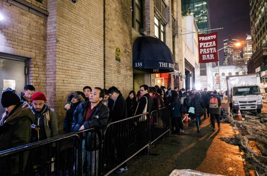 Over 1,000 people lined up in New York for the premiere's screening. (NBC News)