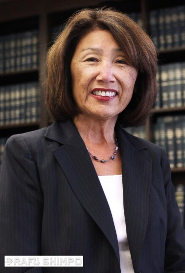 Chief Deputy District Attorney Sharon Matsumoto at her office. (MARIO G. REYES/Rafu Shimpo)