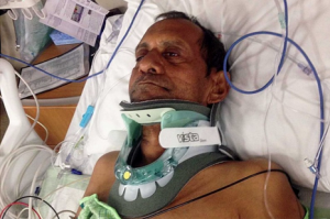 This photo of Sureshbhai Patel appears on a gofundme.com page established by his family for help with medical expenses.