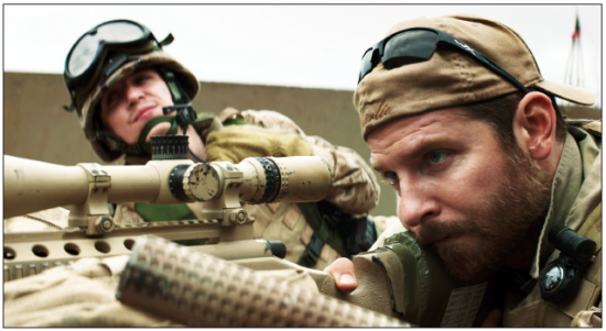 "Bradley Cooper (right) plays Chris Kyle in ""American Sniper."" (Warner Bros. Pictures)"