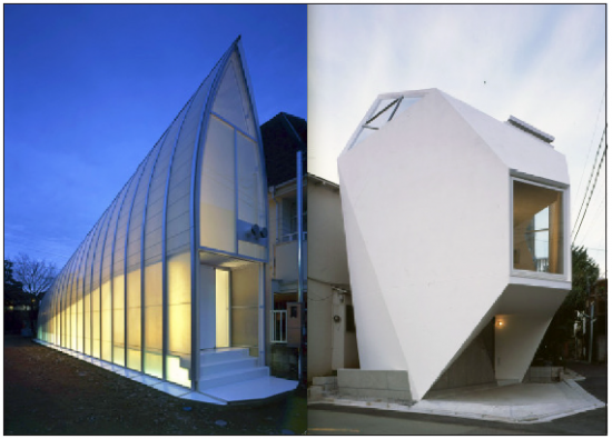 Lucky Drops and Reflection in Mineral by architecture team Atelier Tekuto.