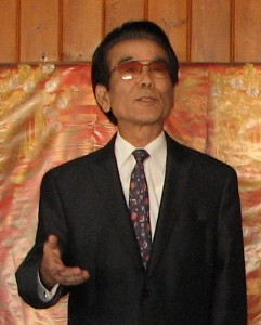 Chogi Higa of Nanka Kenjinkai Kyogikai and Okinawa Association of America was the guest speaker.