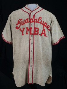 Tets Furukawa's baseball uniform from the Gila River camp in Arizona.