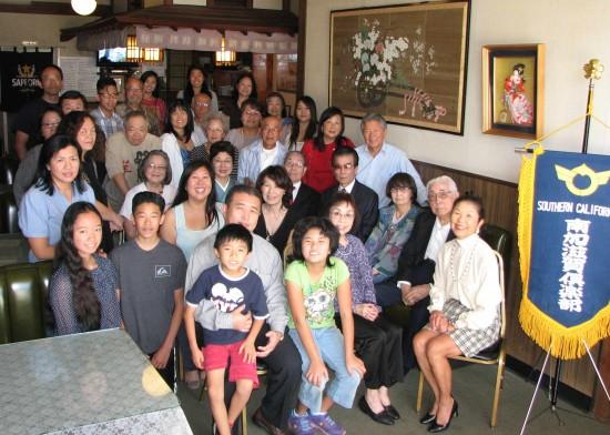 Participants in this year's Nanka Shiga Club Shinnenkai at restaurant.