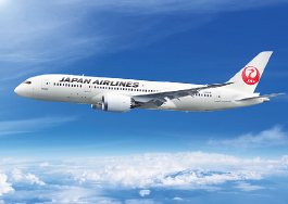 The new Boeing 787 Dreamliner. (JAL photo)