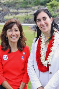 Event organizer Tracey Matsuyama and Pauline Carmona, consul general of France in San Francisco.