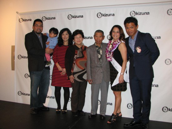 "Helen Ota (second from right) with (from left) brother George, nephew Nathaniel, sister-in-law Ling, mother Hiroko, father Harry, and ""better half"" Michael Palma."