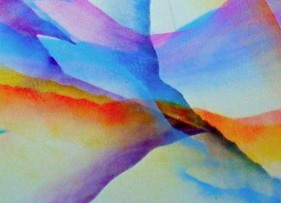 "Yosh Nakamura's ""SierraBlend"" a mixed-media giclee print."