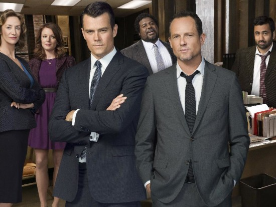 Battle Creek - with stars Josh Duhamel and Dean Winters. (from left, behind). Janet McTeer, Aubrey Dollar, Edward Fordham Jr. and Kal Penn.  Courtesy, Shaw.