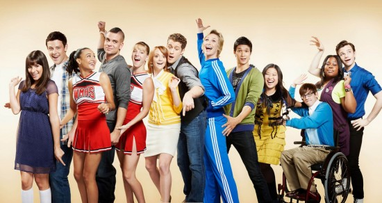 "Early cast of ""Glee."""