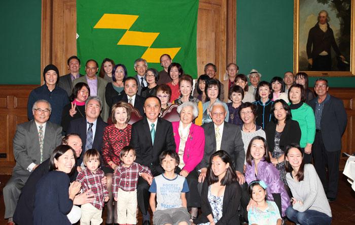 2015年度の新年親睦会に出席したアメリカ宮崎県人会のメンバー