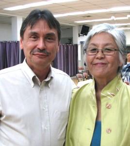 Manzanar Committee Co-chair Bruce Embrey and Dr. Satsuki Ina. (J.K. YAMAMOTO/Rafu Shimpo)