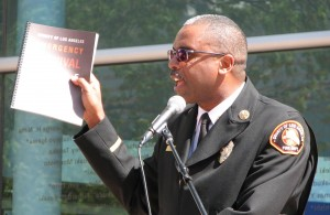 Fire Chief Daryl Osby urged everyone to pick up an emergency guide.