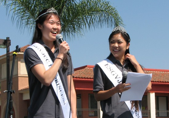ESGVJCC First Princess Claire Hara and Queen Tamara Teragawa served as emcees.