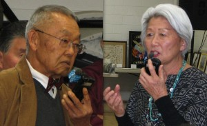 Donald Hata and Mary Higuchi were among those who spoke during the discussion period.