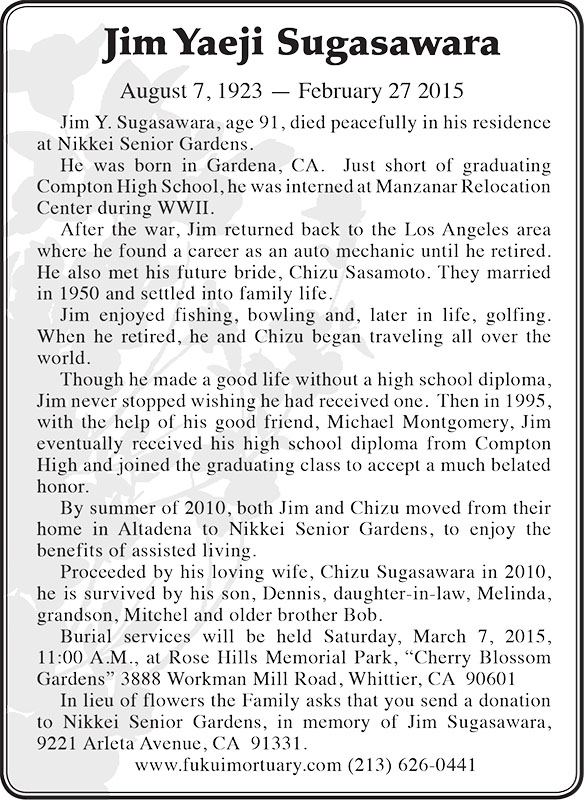 jim sugawasara obit