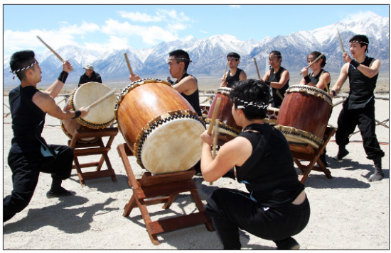 Gann Matsuda/Manzanar Committee UCLA Kyodo Taiko, shown here during the 45th annual Manzanar Pilgrimage on April 26, 2014, will open the 46th annual Manzanar Pilgrimage on April 25 at the Manzanar National Historic Site.