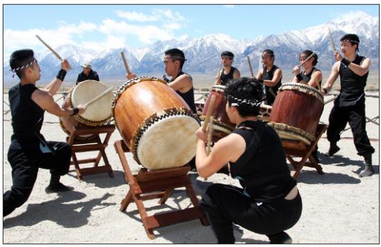 Gann Matsuda/Manzanar Committee UCLA Kyodo Taiko, shown here during the 45th annual Manzanar Pilgrimage on April 26, 2014, will open the 46th annual Manzanar Pilgrimage on April 25 at the Manzanar National Historic Site.