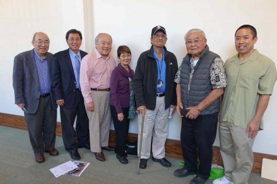 From left: Randy Sakamoto, Ron Kato, Ted Tanaka, Aya Masada, Hank Iwamoto, Jack Fujimoto and Randy Fujimoto of the Sawtelle Japantown Association.