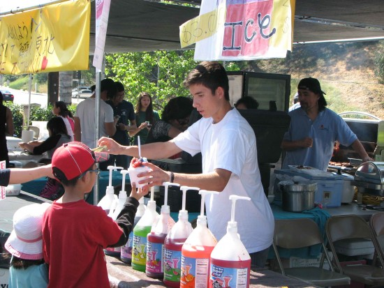 West Covina Judo Dojo sold shaved ice.