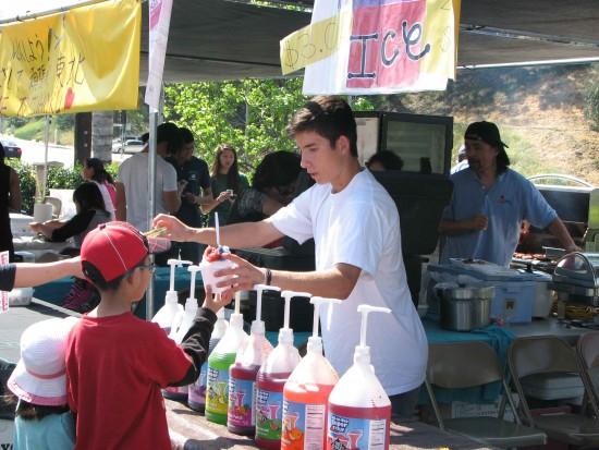 West Covina Judo Dojo sold shaved ice.