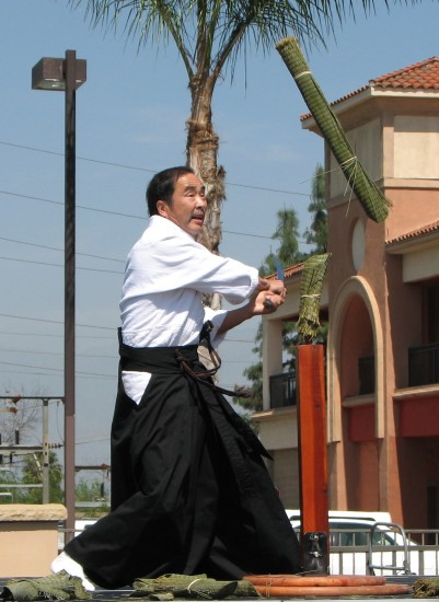 West Covina Shinkendo and Aikido gave a demonstration with real swords.