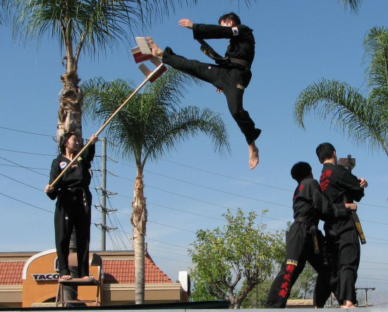 A demonstration of Tuk Kong Moo Sul, a martial art practiced by the South Korean Special Forces.