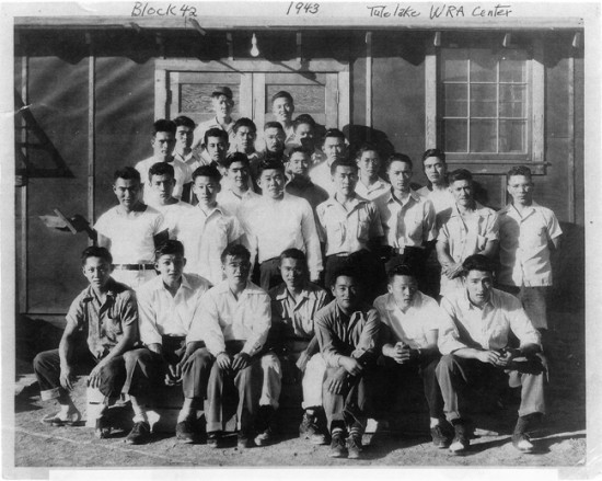"Photo of Tule Lake Block 42, courtesy of brothers Mamoru ""Mori"" and James Tanimoto."