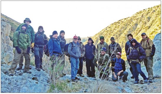 Our group included adventurers from across California. We spent two nights in the mountains of Tehachapi.