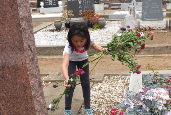 A participant in last year's cemetery clean-up.