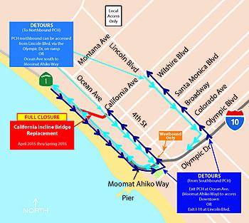 California Incline Detour