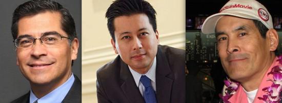 Rep. Xavier Becerra, Kenji Yoshino, Chris Tashima