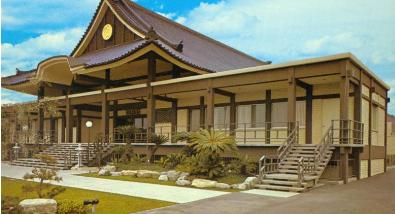 The completed Nishi Hongwanji in 1969.