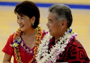 Gov. David Ige and Dawn Amano-Ige