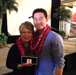"JCCH President/Executive Director Carole Hayashino with ""Hawaii Five-0"" actor Daniel Dae Kim."