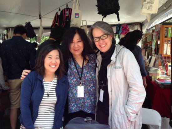 "Lora Nakamura (""Bonsai Babes""), Cynthia Kadohata (""The Thing About Luck"") and Ruth Ozeki (""A Tale for the Time Being"") at last year's L.A. Times Festival of Books. Kadohata will be back this year with her new book, ""Half a World Away."" (Kinokuniya USA)"
