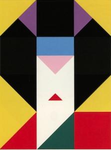 "Ikko Tanaka (1930-2002), ""Close-up of Japan, London 1985"" (detail), Japan, 1985, offset. Gift of Tanaka Ikko Design Room, 1990.9.5."