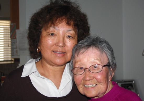 Irene Sanaye Furukawa with her aunt Kimi Kawasaki.