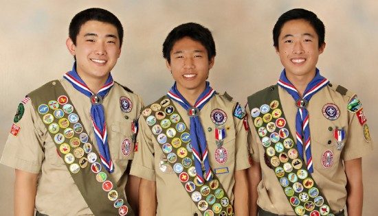 From left: Ryan Saruwatari, Ryan Mizukami, Jake Kuwata.
